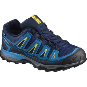 Salomon X-Ultra GTX kengät Lapset, blue depths/cloisonné/blazing yellow